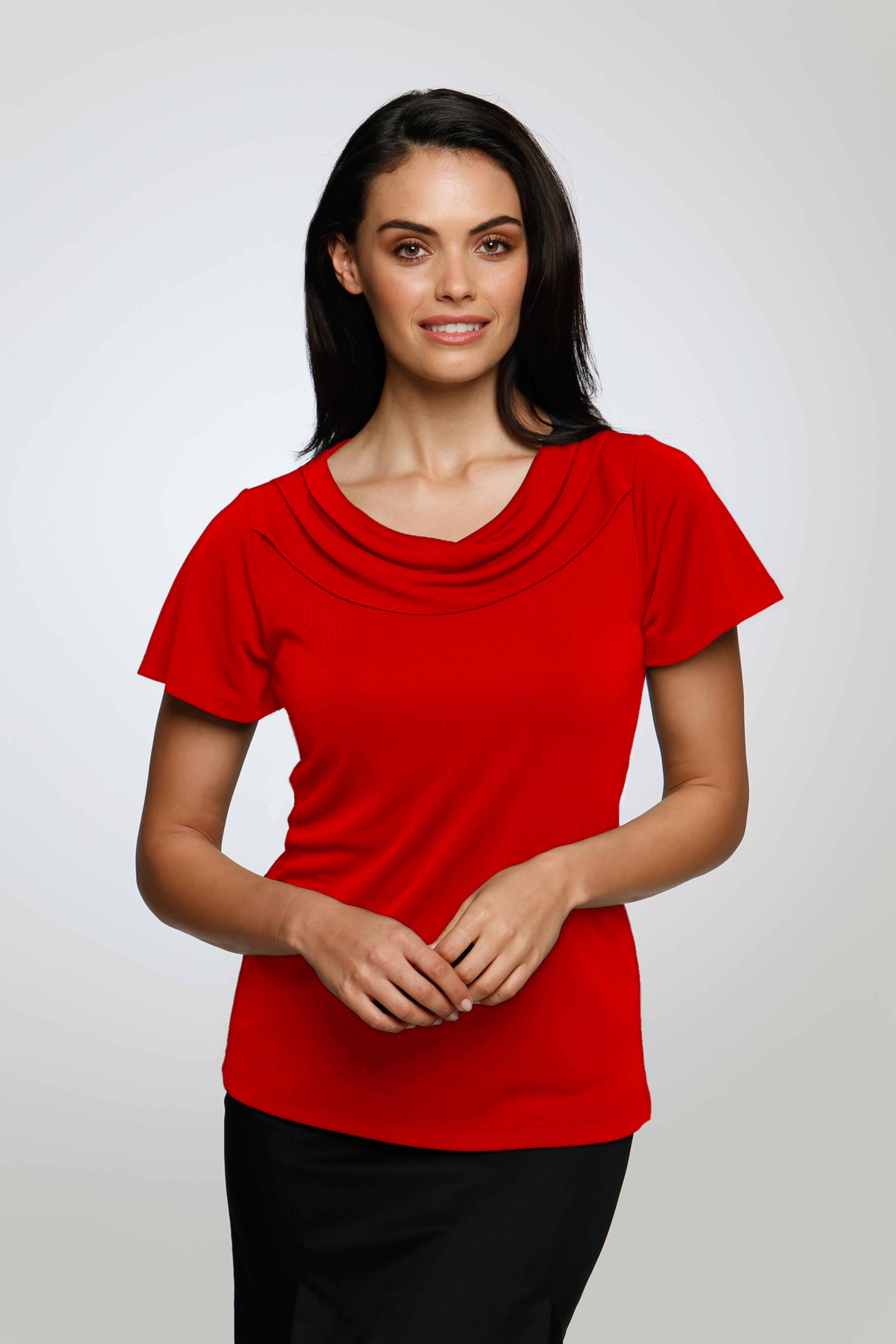 2227 Ladies Short Sleeve Eva Knit  Career Dressing
